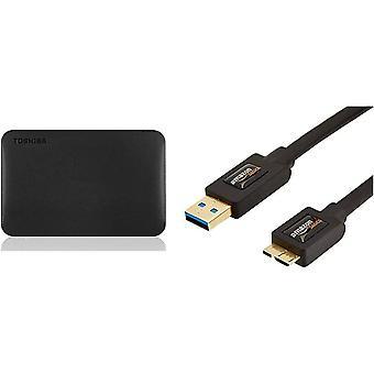 FengChun Canvio Ready 1TB Externe Festplatte (6,4 cm (2,5 Zoll) USB 3.0) schwarz Amazon Basics USB