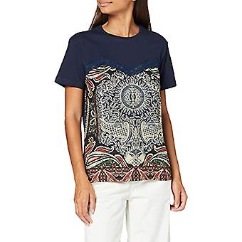Desigual TS_Maine T-Shirt, Blu, M Donna
