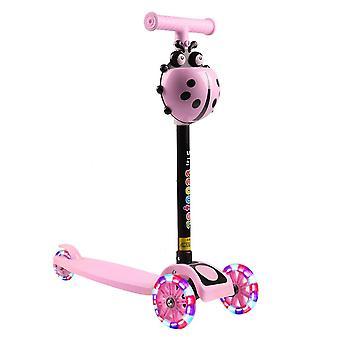Child Scooter, Folding Foot Scooters, Led Shine Balance Bike, Adjustable