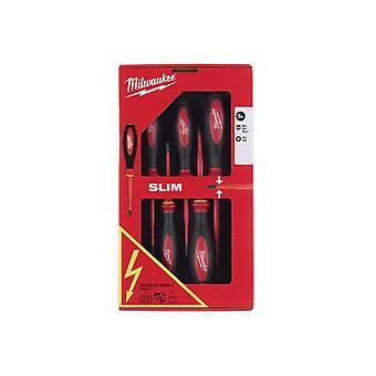 Milwaukee VDE Slim Screwdriver Set, 5 Piece 4932471452