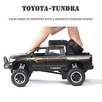 1:32 Tundra Auto Malli Seos Auto Die Cast Lelu Auto Malli Vedä takaisin Lasten lelu keräilyesineet (musta)