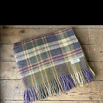 Wool throw Highland heather