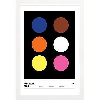 JUNIQE Print - Reservoir Dogs - Plakat filmowy w kolorze różowym i czarnym