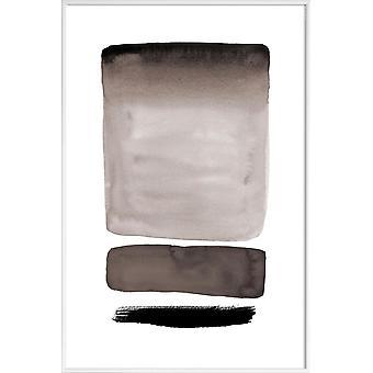 JUNIQE Print - Nyanser av grått - Abstrakt & Geometrisk Affisch i Cream White & Grey