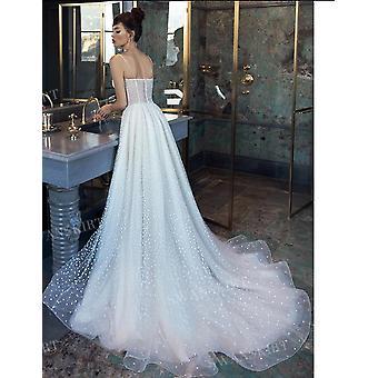 Novo vestido de noiva de linha de praia