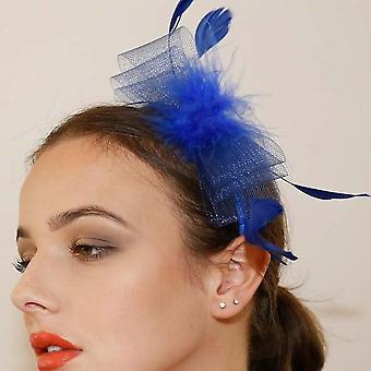 Ruby rocks mati fascinator - blue