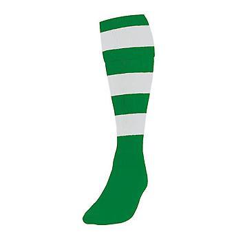 Tarkkuus hooped jalkapallo sukat miesten smaragdi /valkoinen