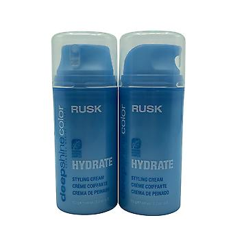 Rusk Deep Shine Color Hydrate Styling Cream 3.2 OZ Set of 2