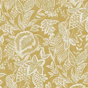 Mae Ochre Wallpaper