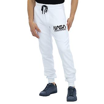 Nasa Men Pants Basic Nasa Logo Regular fit Ankle length  White