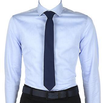 Calvin Klein Heren Stropdas Logo Staart Blauw