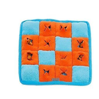 new f 25.5x25.5cm pet dog snuffle mat sniffing training blanket detachable fleece pads dog mat sm64375