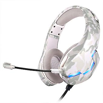 Wired Camouflage Gaming Headset With Rgb-led Light