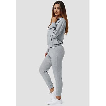 Womens Basic Tracksuit Stretch Jogging Suit Sweat Hoodie & Pants Sport Outfit