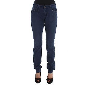 Blue cotton blend denim jeans
