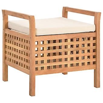 vidaXL مقاعد البدلاء مع مساحة تخزين 49×48×49 سم خشب الجوز الصلب