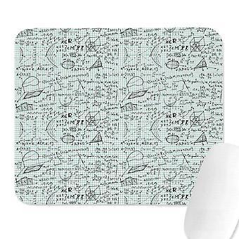 (220X180X3) Unisex Hombres Matemáticas Ecuaciones Física Geometría Blanco Almohadillas de Moda Gaming Sports School