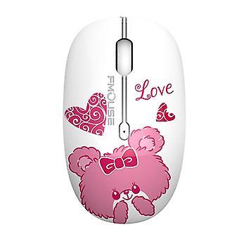 الماوس اللاسلكي 2.4g لطيف الفئران الكمبيوتر الكرتون البصرية الصامتة مع جهاز استقبال USB 1600dpi لكمبيوتر محمول طفل فتاة هدية macbook