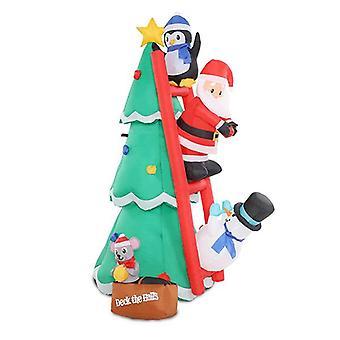 Inflatable Christmas Tree Santa Decorations Led Light