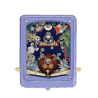Jeu de flipper pour enfants créatifs Dessin animé Machine de jeu portable Labyrinthe Ejection Score Machine (Rose)