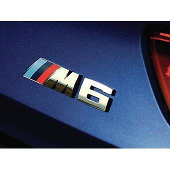 Chrome M6 Car Rear Lettering Boot Badge Emblème pour BMW Nouveau