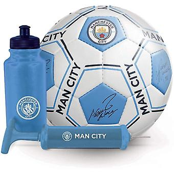 Manchester City FC Signature Gift Set size 5 football with bottle and pump
