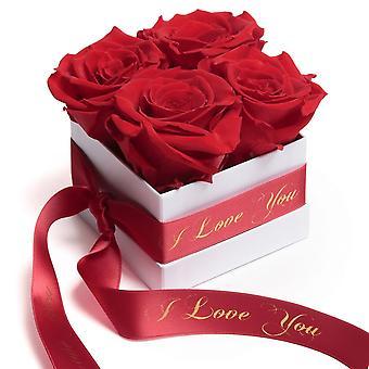 Rosen Box Wei� ewige Rosen Rot I Love You Geschenk