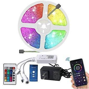 5M bluetooth led strip light music control rgb tv backlight tape lamp work with homekit amazon alexa google assistant
