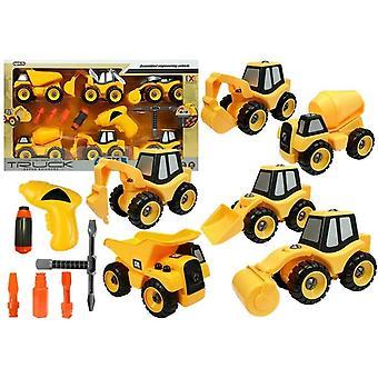 Bouwvoertuigen - Speelgoed - Bouwplaats set - Demontabel