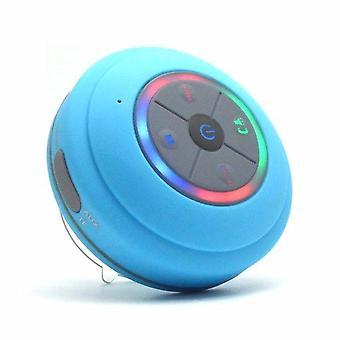 LED-luidspreker Bluetooth waterdichte luidspreker draagbare stereo luidsprekers TF-kaart basluidsprekers (blauw)