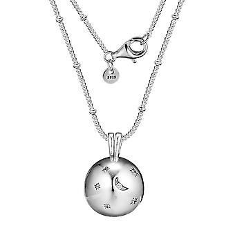 Real 925 Sterling Silver Moon a hvězdy Náhrdelník Módní přívěsky Náhrdelníky pro ženy DIY Charms