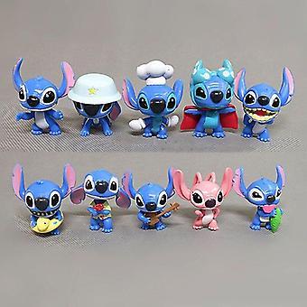 10pcs Mini Lilo & Stitch Action Figuren Spielzeugpuppe Geschenk