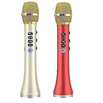 Microphones 2 set l-698d 20w portable wireless bluetooth karaoke microphone speaker with big power for