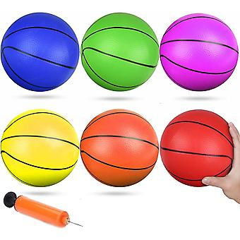 6 Inch Small Pool Play Basketball Mini Rubber Kick Balls Replacement Basketball For Beach Door Basketballs Play Basket For Toddlers Teenagers Adults H
