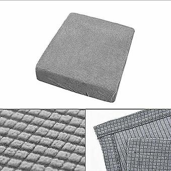 1 Sitzer Stretchy Sofa Sitz Kissen Bezug Couch Slipcovers Protector (Schwarz)