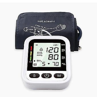Olkavarren verenpainemittari Englanti ääni automaattinen sähköinen pr tonometri lcd näyttö digitaalinen