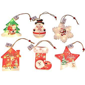 Luces de decoración navideña Árbol de Navidad Led Colgante Decoración al aire libre Decoración de escaparates Nuevo juego de 6 piezas