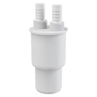 """Vermindering van witte kunststof verbinding Reducer te verspillen 40/50xG1/2 """"slang-Connector"""