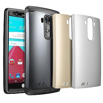 LG G4 ärende, SUPCASE vattenresistent Full body robust ärende med inbyggt skärmskydd för LG G4 2015-grå/Silver/guld