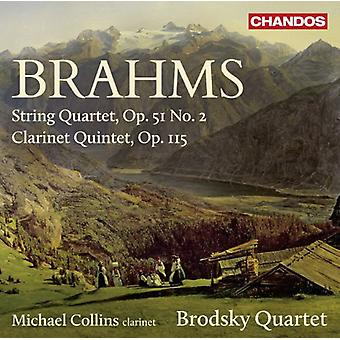 Brahms/Brodsky Quartet/Collins - String Quartet No. 2/Clarinet Quintet [CD] USA import
