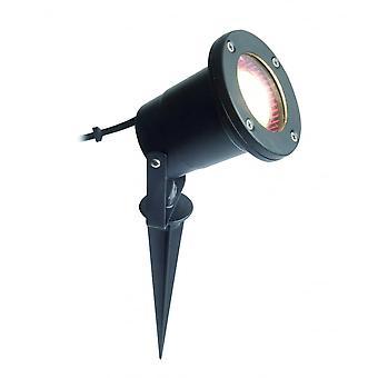 LED Robus Lee Mains Voltage Black Garden Spike Light