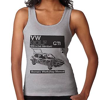 Haynes Workshop Manual VW Golf GTI 78 to 84 Black Women's Vest