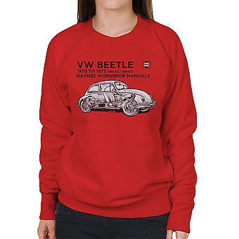 Haynes Workshop Manual VW Beetle 70 To 72 Black Women's Sweatshirt