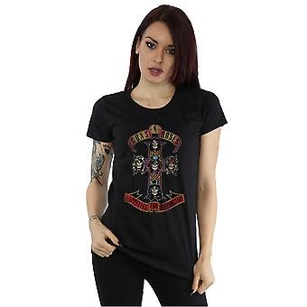 Guns N Roses Women's Appetite for Destuction Distressed T-Shirt