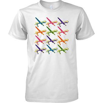 Predator Drone Pop Art Design - camiseta para hombre