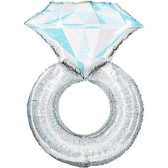 Anagram Platinum Wedding Ring Supershape Foil Balloon