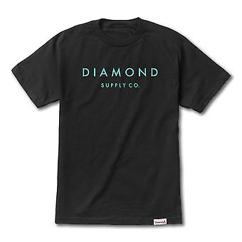 Diamond Supply co pedra Cut Premium T-shirt preto TIFF