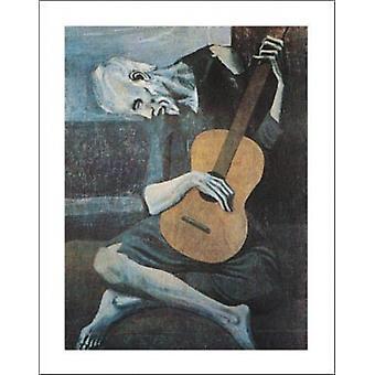 Gamle Guitarist plakat Print af Pablo Picasso (22 x 28)