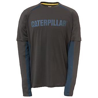 Caterpillar Herren Expedition Langarm Kontrast T-Shirt