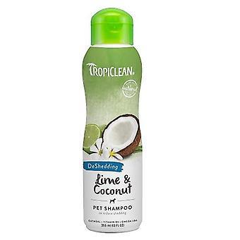 TropiClean Lime & kokos huisdier Shampoo (voor het vergieten van vermindering)